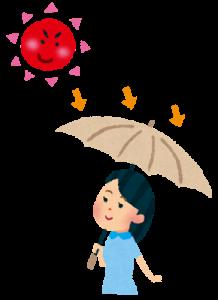 女性 日傘